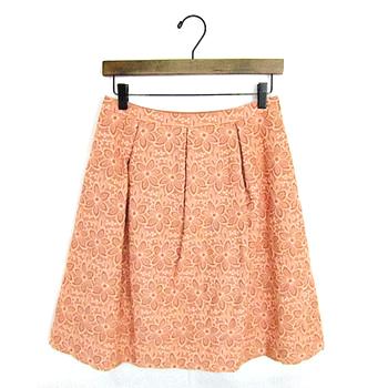 トッカ レース 花柄 スカート 刺繍 ピンク