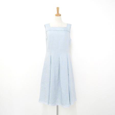 フォクシー 2017年 36697 リネン ドレス Provence ワンピース サックス ブルー