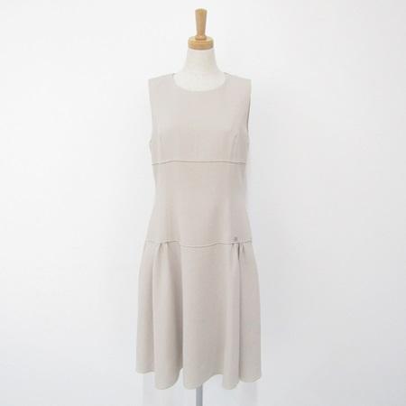 フォクシー 2017年 31296 ドレス スピーガ ワンピース オイスターベージュ オータムカラー
