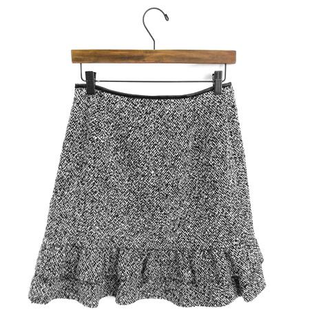 2011年 M'S GRACY エムズグレイシー ツイードスカート ブラック×ホワイト