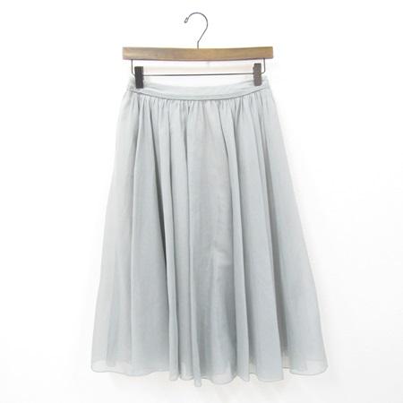 フォクシー 2017年 DM掲載品 35968 スカート シアー サーキュラー スモーキーブルー
