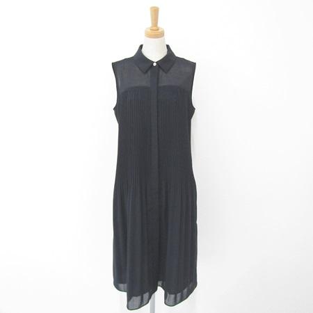 フォクシー 2018年 DM掲載 37672 ドレス クリスタル 襟付 ワンピース ミッドナイトブルー
